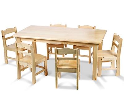 学校实木课桌椅